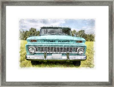 1963 Chevy Suburban Framed Print by Edward Fielding