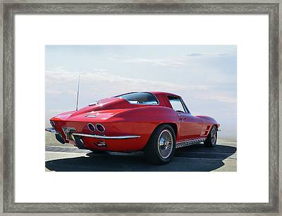 1963 Corvette Coupe Framed Print by Bill Dutting