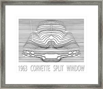 63 Split Window Abstract Framed Print by Jack Pumphrey