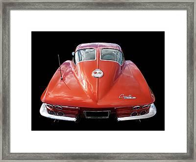 1963 Corvette Stingray Split Window Rear Framed Print