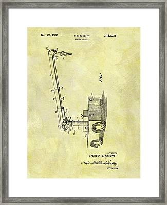 1963 Crane Patent Framed Print by Dan Sproul
