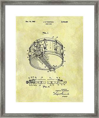 1963 Drum Patent Framed Print