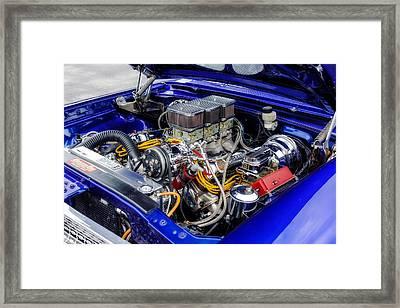1963 Ford 406 Cubic Inch Tri-power Framed Print