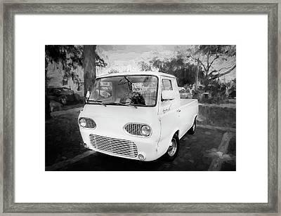 1963 Ford Econoline Truck Bw  Framed Print
