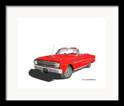 1963 Ford Paintings Framed Prints