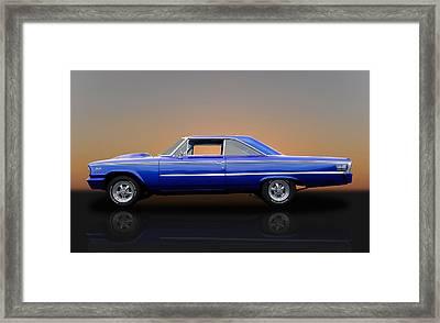 1963 Ford Galaxie 500 - 406 Tri-power Framed Print