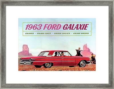 1963 Ford Galaxie Framed Print