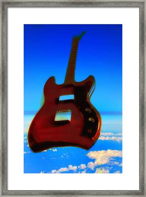 1963 Guild Jet Star Framed Print by Bill Cannon