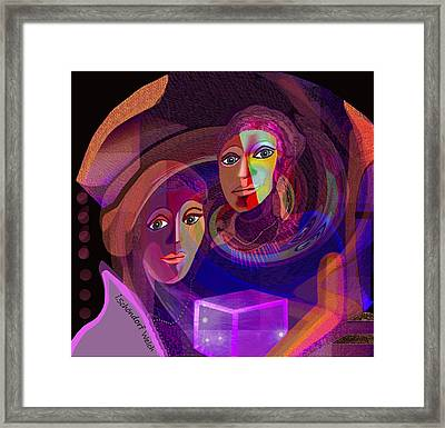 Framed Print featuring the digital art 1963 - Pandoras Magic Box 2017 by Irmgard Schoendorf Welch