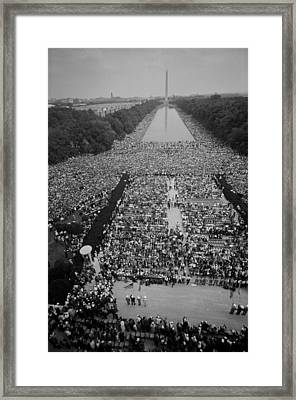 1963 March On Washington, At The Height Framed Print