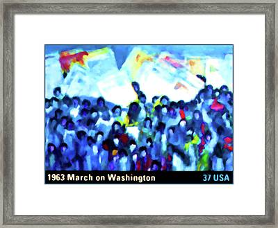 1963 March On Washington Framed Print by Lanjee Chee