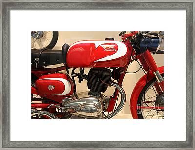 1963 Moto Morini 175cc Tresette Sprint . 5d16944 Framed Print by Wingsdomain Art and Photography