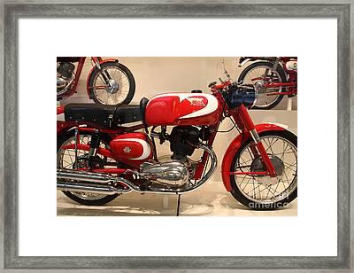 1963 Moto Morini 175cc Tresette Sprint . 5d16945 Framed Print by Wingsdomain Art and Photography
