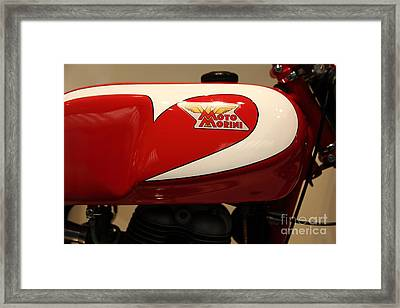 1963 Moto Morini 175cc Tresette Sprint . 5d16952 Framed Print by Wingsdomain Art and Photography