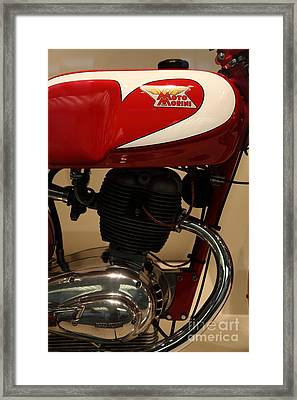1963 Moto Morini 175cc Tresette Sprint . 5d17005 Framed Print by Wingsdomain Art and Photography