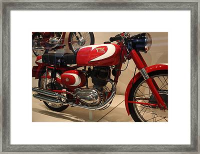 1963 Moto Morini 175cc Tresette Sprint . 5d17008 Framed Print by Wingsdomain Art and Photography