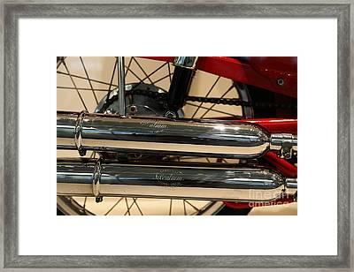 1963 Moto Morini 175cc Tresette Sprint . 5d17044 Framed Print by Wingsdomain Art and Photography
