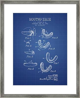 1963 Mouthpiece Patent Spbx15_bp Framed Print by Aged Pixel