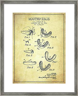 1963 Mouthpiece Patent Spbx15_vn Framed Print by Aged Pixel