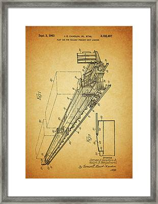 1963 Railway Car Patent Framed Print by Dan Sproul