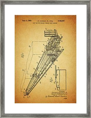 1963 Railway Car Patent Framed Print