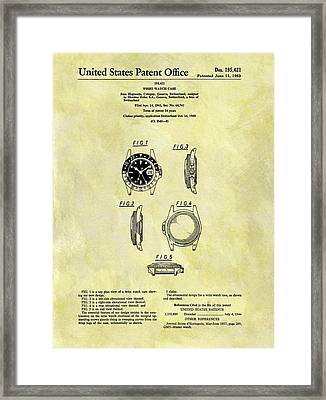 1963 Rolex Watch Patent Framed Print by Dan Sproul