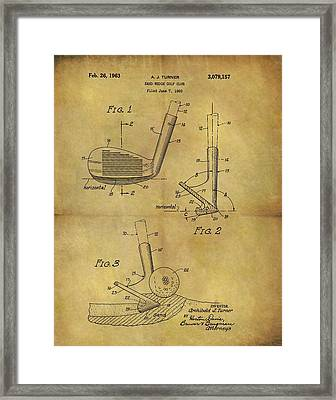 1963 Sand Wedge Patent Framed Print by Dan Sproul