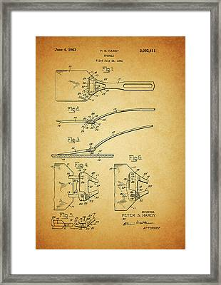 1963 Spatula Patent Framed Print by Dan Sproul