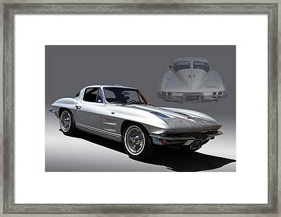 1963 Split Window Corvette Framed Print by Nick Gray