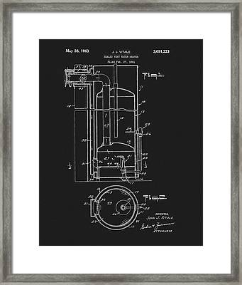 1963 Water Heater Patent Framed Print