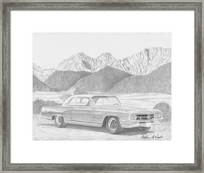 1964 Buick Wildcat Classic Car Art Print Framed Print by Stephen Rooks