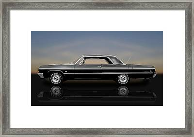 1964 Chevy Impala Super Sport Hardtop  -  1964chimp9591 Framed Print