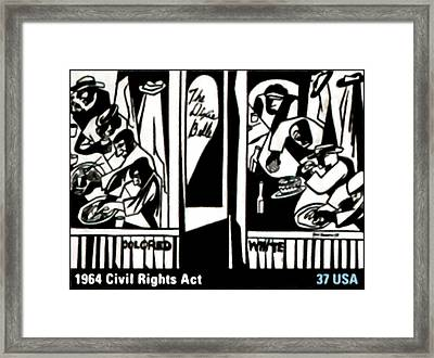 1964 Civil Rights Act Framed Print by Lanjee Chee