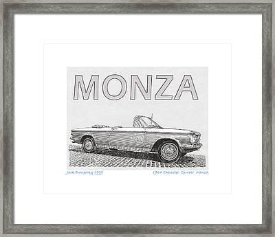 1964 Corvair Monza Spyder Framed Print by Jack Pumphrey