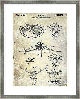1964 Cymbal Patent  Framed Print