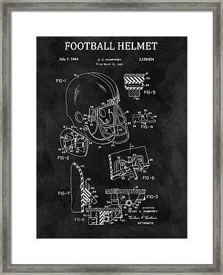 1964 Football Helmet Design Framed Print