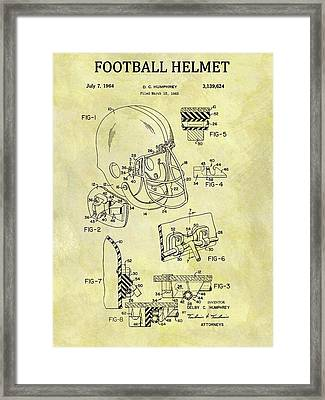 1964 Football Helmet Patent Framed Print by Dan Sproul