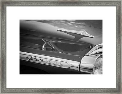 1964 Ford Galaxie 500 Xl Emblem -0042bw Framed Print by Jill Reger