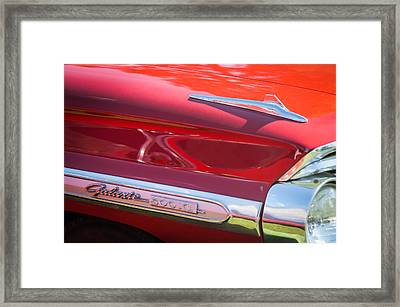 1964 Ford Galaxie 500 Xl Emblem -0042c Framed Print by Jill Reger