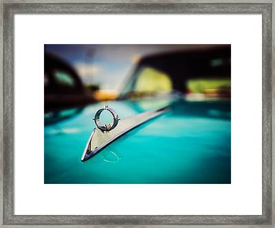 1964 Ford Galaxie 500 Xl Hood Ornament Framed Print by Jon Woodhams