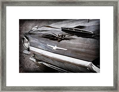 1964 Ford Thunderbird Grille Emblem -0519ac Framed Print