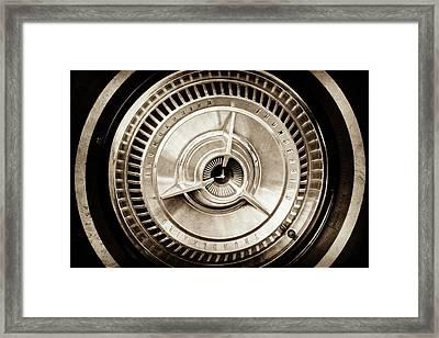 1964 Ford Thunderbird Wheel -0521s Framed Print by Jill Reger