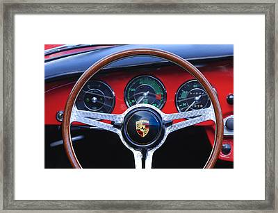 1964 Porsche C Steering Wheel Framed Print by Jill Reger