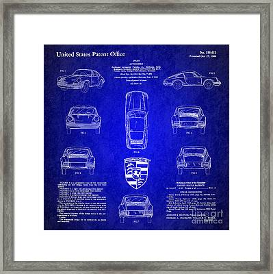 1964 Porsche Car Patent 4 Framed Print by Nishanth Gopinathan