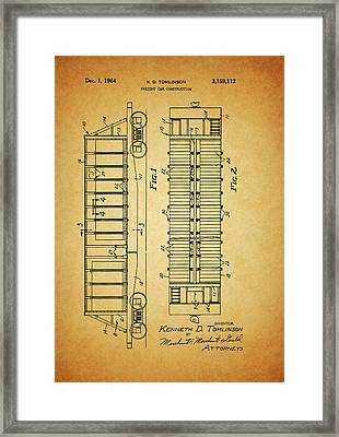 1964 Railroad Car Patent Framed Print by Dan Sproul