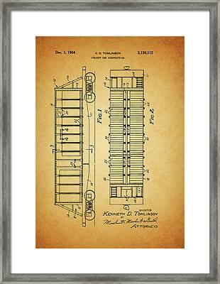 1964 Railroad Car Patent Framed Print