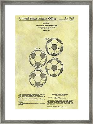 1964 Soccer Ball Patent Framed Print by Dan Sproul