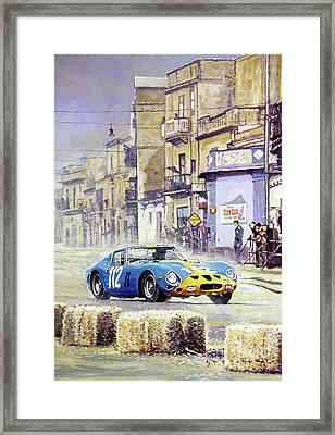 1964 Targa Florio Ferrari 250 Gto Framed Print