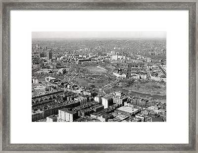1965 Aerial View Boston Back Bay Fens Framed Print