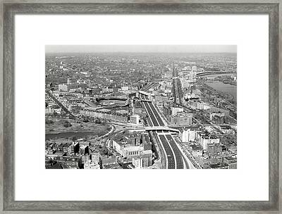 1965 Aerial View Of Boston No.2 Framed Print